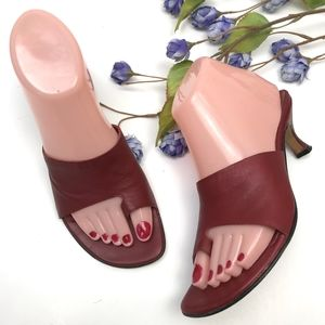 Vintage Leather Square Toe Thong Sandals Trendy